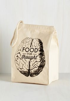 Power Hour Lunch Bag. Give those brainwaves a nutritious boost by packing a homemade meal in this canvas lunch bag! #tan #modcloth