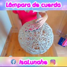 Diy Crafts For Home Decor, Twig Crafts, Diy Crafts For Girls, Diy Crafts Hacks, Diy Arts And Crafts, Creative Crafts, Light Crafts, Balloon Crafts, Yarn Balloon