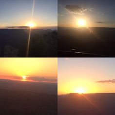 Sunrise and sunset over the Grand Canyon is something everyone should see!