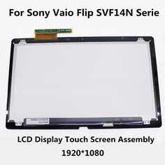 """(179.00$)  Watch now  - """"14"""""""" LCD Display Touch Screen Digitizer Assembly For Sony Vaio Flip SVF14N Serie SVF14N13CXB SVF14N11CXB SVF14N16CXS SVF14NA1EL"""""""