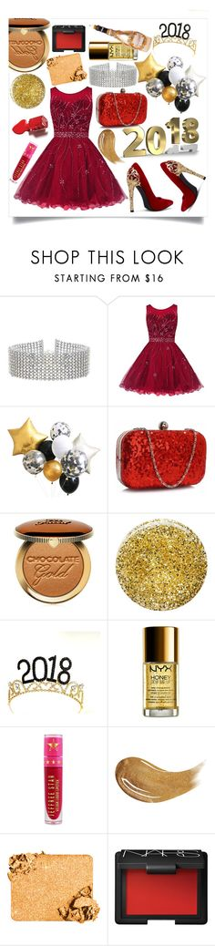 """welcome to 2018"" by aluin ❤ liked on Polyvore featuring Steve Madden, Too Faced Cosmetics, Burberry, NYX, Jeffree Star, NARS Cosmetics and 2018"