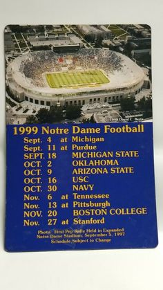university of notre dame football schedule 2020