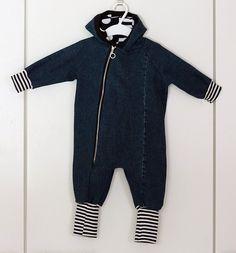 vauvan haalari vanhoista farkuista Upcycle, Jumpsuit, Athletic, Jackets, Fashion, Overalls, Down Jackets, Moda, Upcycling