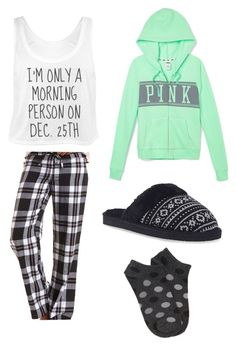 """Pajama day!!"" by lilygriffiths44 ❤ liked on Polyvore featuring Charlotte Russe, Forever 21, Victoria's Secret PINK and Wet Seal"