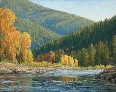 Poudre Canyon Autumn by Keith Bond Oil ~ 24 x 30