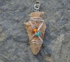 Ancient Native American Indian Arrowhead Pendant by WornElements, $20.95