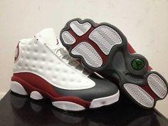 promo code 2b448 64b7e Homme Nike Air Jordan 13 Blanc Rouge Gris  I31t