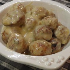 """French Onion Meatballs """"I made some of these for a party recently and everyone just went nuts over them and after the party I started getting texts asking for the recipe! This is definitely a good one!"""""""