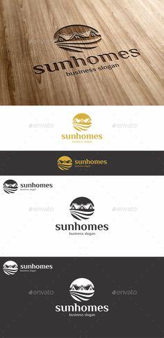 Sun Homes Estate  Logo Design Template Vector #logotype Download it here:  http://graphicriver.net/item/sun-homes-estate-logo/13510225?s_rank=1220?ref=nesto