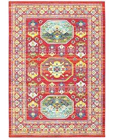 JHB Design Vibe Inca Red Area Rugs