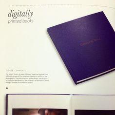We Won! Digitally printed books!