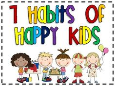 FREE Printable - 7 Habits of Happy Kids Poster Set - Go along to the book 7 Habits for Happy Kids by Sean Covey