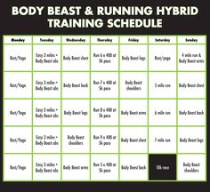Body Beast  Half Marathon Hybrid Training Plan  Bearathon