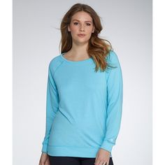 Champion French Terry Crew Sweatshirt Plus Size ($16) ❤ liked on Polyvore featuring plus size women's fashion, plus size clothing, plus size tops, plus size hoodies, plus size sweatshirts, activewear, women, crew neck sweatshirts, crew top and blue sweatshirt