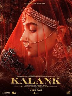 Alia Bhatt is looking endearing in stunning jewelry and red dupatta. For the look of 'Kalank'. The film is slated to hit theaters on April 19th this year.  #aliabhatt #kalank #womenofkalank Yash Johar, Movie Ringtones, Roy Kapoor, Dharma Productions, Aalia Bhatt, Alia And Varun, Karan Johar, Upcoming Films, Bollywood Actors