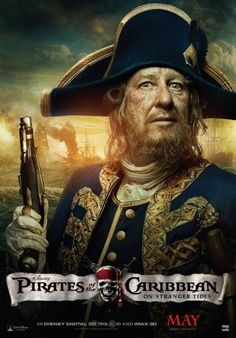Geoffrey Rush as Captain Barbossa in 'Pirates of the Caribbean: On Stranger Tides' (the fourth film in the franchise)