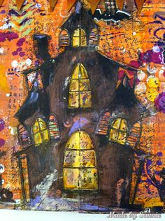 Made by Sannie: Halloween art journal pages