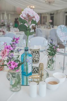 gin bottle centre pieces