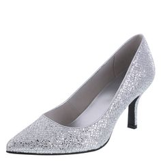80faab5922d Silver glitter pumps from Payless Silver Glitter Pumps