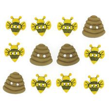 "Dress it Up Sew Cute ""Bumble Bees"" Buttons Hives"