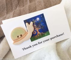 Snail Button, Ceramic Button - sold individually by GlazeGirlDesigns on Etsy