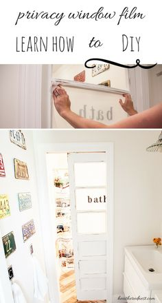 You Make a Better Door than a Window. AKA DIY Privacy Film Tutorial.