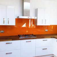 Kind Of What My Kitchen Will Look Like Orange Splash Back