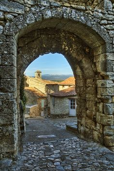Stone Archway in the Village of Lacoste by philhaber, via Flickr