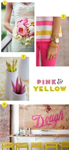 Pink and yellow   At Home in Love