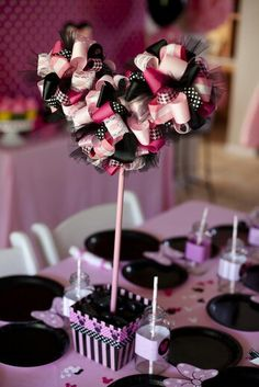 I& included pretty much all the great ideas I could find to create an adorable Minnie Mouse party for your little girl. Minnie Birthday, 2nd Birthday Parties, Birthday Ideas, Minnie Mouse Theme, Mickey Mouse, Ideias Diy, Festa Party, Mickey Party, Mouse Parties