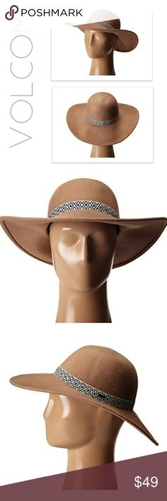 """volcom  •×•  boho floppy panama hat volcom * hat * panama / sun / floppy / fedora * camel brown * cream & black aztec print band accent * small metal brand logo on side of band * soft felt fabric * 100% wool * high quality * circumference = 22"""" * brim = 4"""" * brand new in package direct from volcom  * summer * boho * bohemian * vacay * vacation * festival * concert * weekend * beach * western * indie * neutral * beige * nude * indian * native american * tribal * versatile * trend * Volcom…"""
