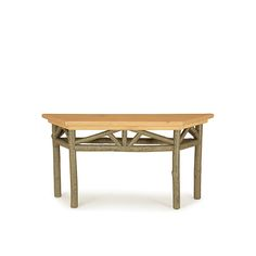 Rustic Console Table with Pine Top #3268 (Shown in Sage Finish & Light Pine…