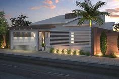 Planta de casa térrea com piscina Modern Fence Design, Modern House Design, Style At Home, House Gate Design, Boundary Walls, Modern Contemporary Homes, Modern Mansion, House Entrance, Japanese House