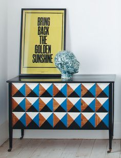 DIY: hand-painted dresser