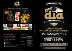 Dancehall Industry Awards (D.I.A) 2014 is in it's 12th year and will be celebrated as a RED CARPET affair with a live show on January 1st. There will be prizes & surprises with featured artist TERRY LINEN live from Jamaica! Lines are now open for nominations in various categories @�www.dancehallindustryawards.com�Go there to cast your votes for your favorites