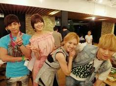 SNSD Hyoyeon and Sooyoung with Shinee's Jonghyun and Key