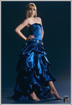 bright blue prom dresses