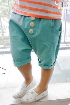 Mint Shorts for unisex kids fashion at colormewhimsy