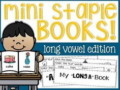 Long Vowels Pencil It InThis packet is part of my Long Vowels MEGA BUNDLE! Thanks so much for viewing my Mini Staple Books: Long Vowels Edition packet! This packet is designed to offer a fun and engaging way to practice long vowels. You will be able to use these activities as a supplement to your guided reading lesson, add on to your whole-group instruction, and/or as an independent literacy center option.