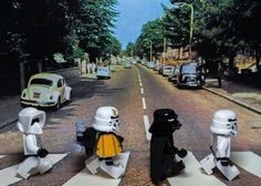 Lego Star Wars Abbey Road Matted and Signed by VivantPhotography