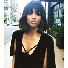 Snip Snip - Ciara Updates Bob With Blunt Bang Trend. These days Ciara is slaying the hair game, first a bob, and now with blunt bangs! The singer debuted her edged up version of her bob just three ...