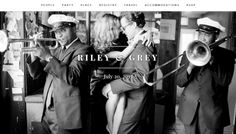 gorgeous wedding websites by @Riley & Grey