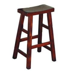 Dark Chocolate Santa Fe Saddle Seat Stool, 30