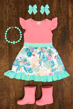 Carlee Floral Ruffle Dress