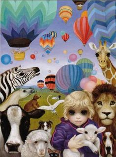"""Who Says Animals Can't Fly?"" by Margaret Keane"