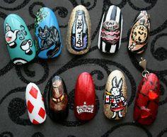 (24) alice in wonderland nail art | Tumblr