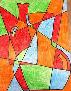 Abstract Vases art project - Google Search