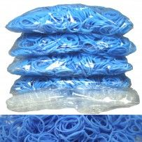Light Blue Rainbow Loom Rubber Bands 2400 pcs