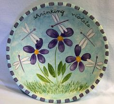 Hand Painted Wooden Bowl  Folk Art Easter by RavensBendFolkArt