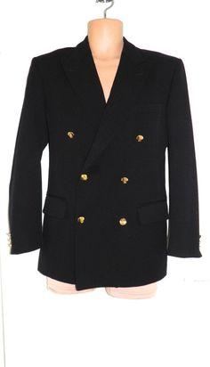 VTG 80s AUSTIN REED Navy Nautical Boating Sports Blazer Jacket Coat Mens 38 S 21.00